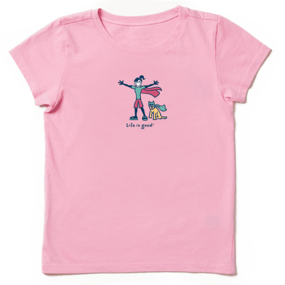 Girls Superhero Jackie Vintage Crusher Tee