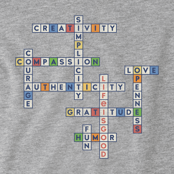 Girls Superpower Crossword Crusher Tee