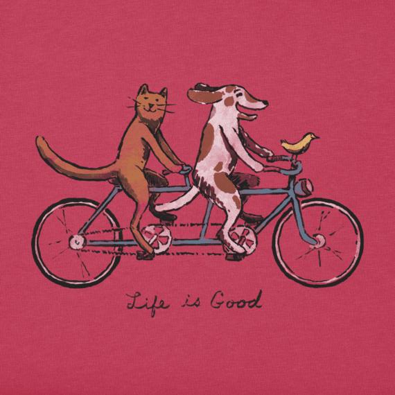 Girls Tandem Bike Crusher Tee