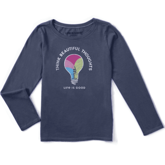 Girls Think Beautiful Thoughts Long Sleeve Crusher Tee