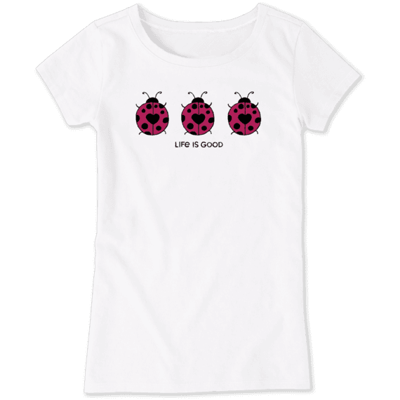 Girls Three Ladybugs Crusher Tee