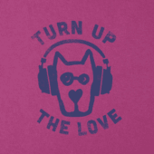 Girls Turn Up the Love Crusher Tee