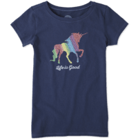 Girls Unicorn Crusher Tee