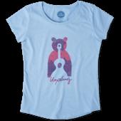 Girls Unplug Bear Smiling Smooth Tee