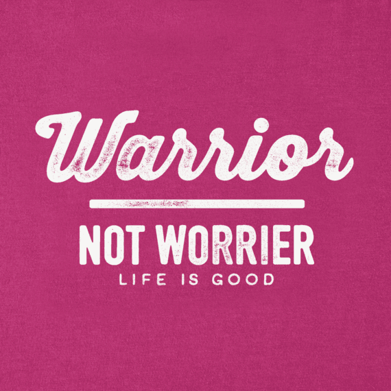 Girls Warrior Not Worrier Smiling Smooth Tee