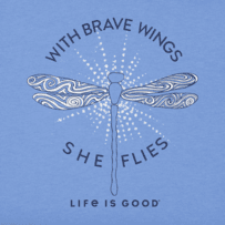 Girls With Brave Wings She Flies Crusher Tee