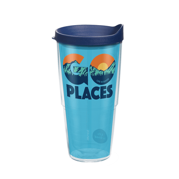 Go Places Tervis Tumbler with Lid, 24oz