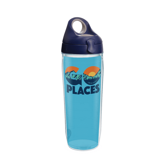 Go Places Tervis Water Bottle with Lid