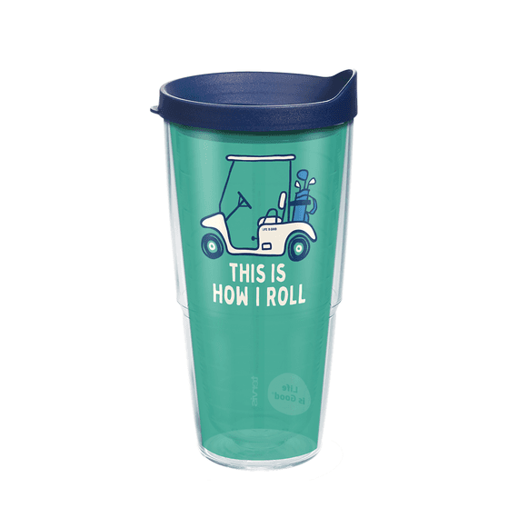 Golf Cart Tervis Tumbler with Lid, 24oz