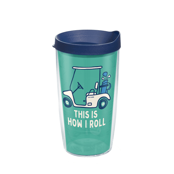 Golf Cart Tervis Tumbler with Lid, 16oz
