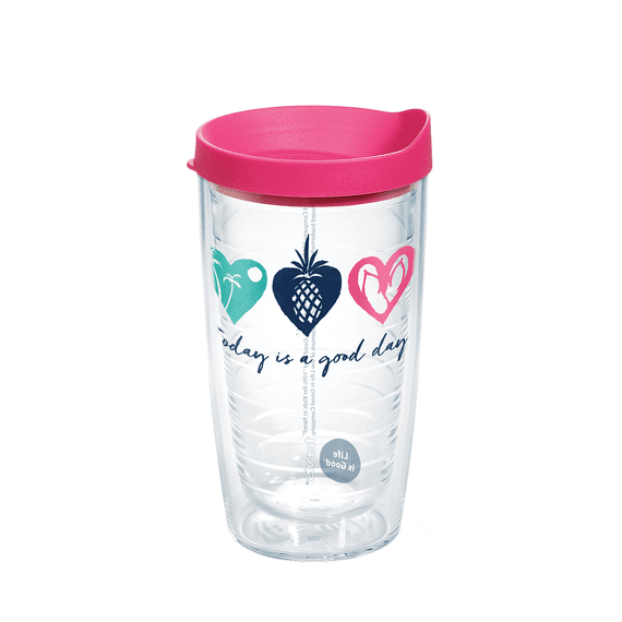 Good Day Hearts Tervis Tumbler with Lid, 16oz