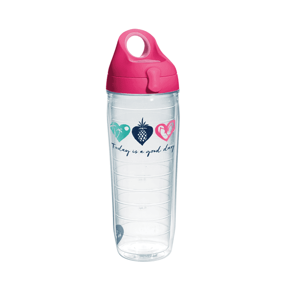 Good Day Hearts Tervis Water Bottle with Lid