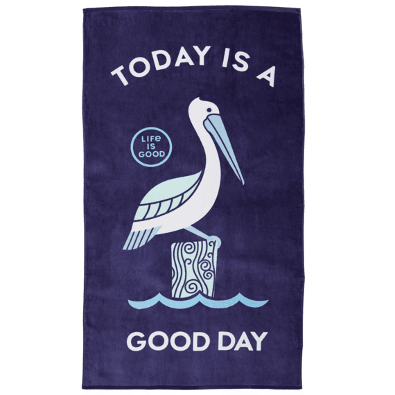 Good Day Pelican Beach Towel