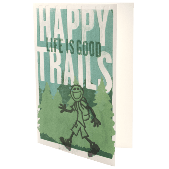 Graduation Hiker In Woods Card