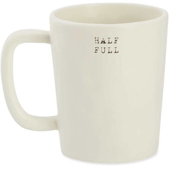 b2609ea6472 Half Full Daisy Jar Artisan Mug|Life is Good