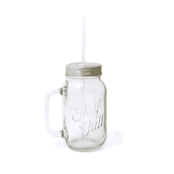 Half Full Glass Mason Mug