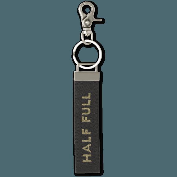 Half Full Ride On Keychain