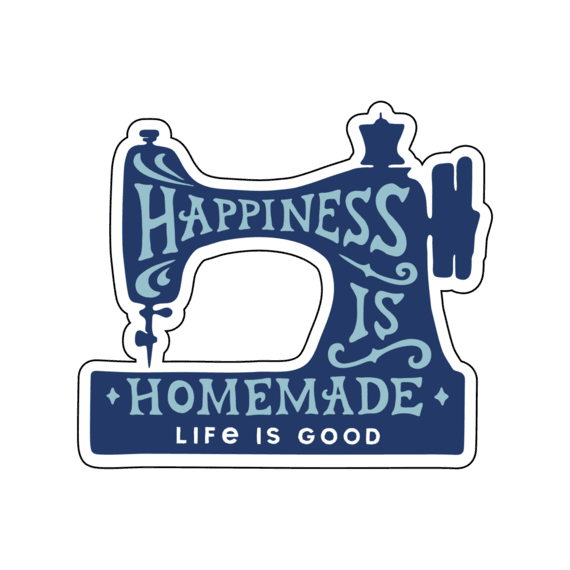 Happiness is Homemade Small Die Cut Decal