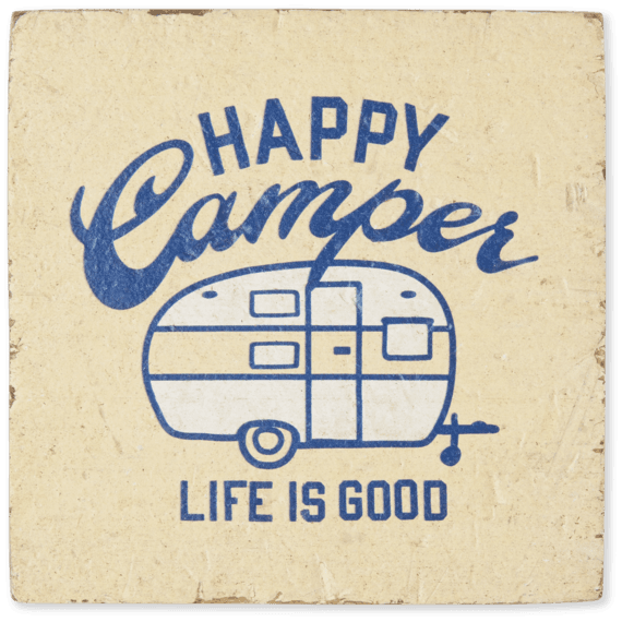 Happy Camper Small Wooden Sign