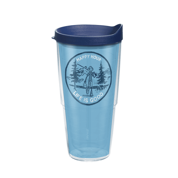 Happy Hour Fish Tervis Tumbler with Lid, 24oz