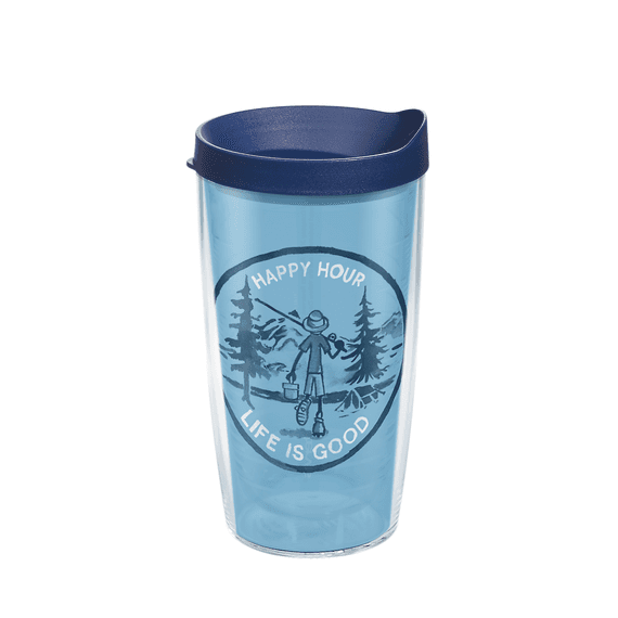 Happy Hour Fish Tervis Tumbler with Lid, 16oz