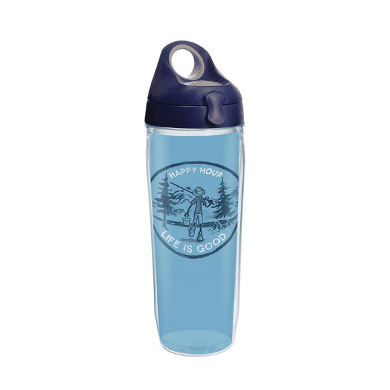 Happy Hour Fish Tervis Water Bottle with Lid