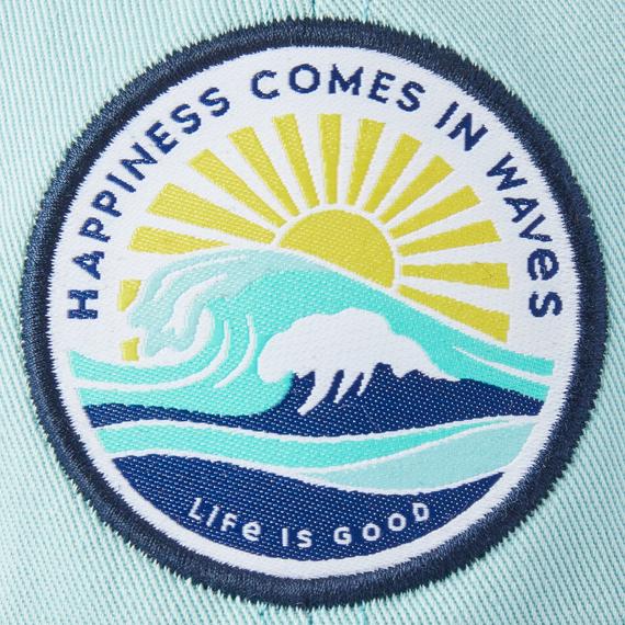 Happy Waves Soft Mesh Back Cap