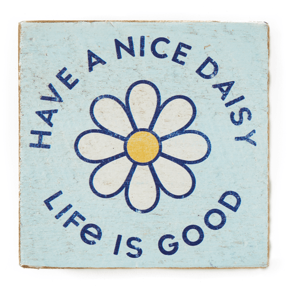 Have a Nice Daisy Small Wooden Sign