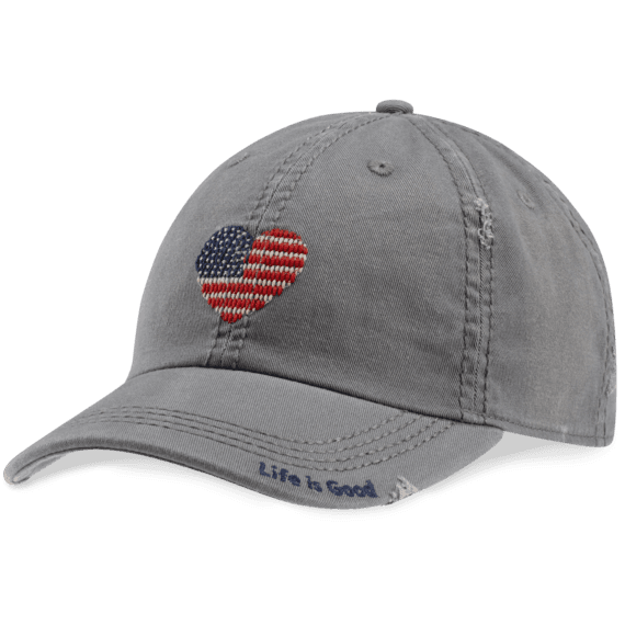 Heart Flag Sunwashed Chill Cap