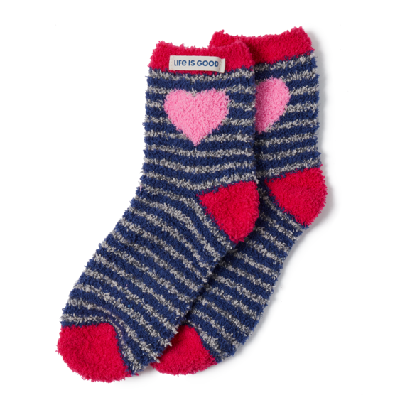 Heart Stripe Snuggle Socks