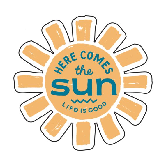 Here Comes The Sun Small Die Cut Decal