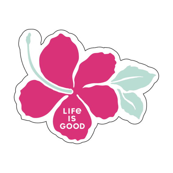 Hibiscus Small Die Cut Decal