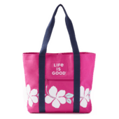 Hibiscus Stripe Sunny Day Cooler Tote