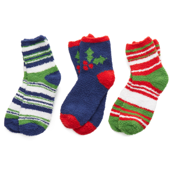 Holiday Holly Pack Set of 3 Socks