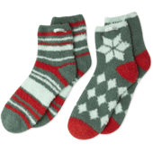 Holiday Patterns Snuggle Sock 2-Pack