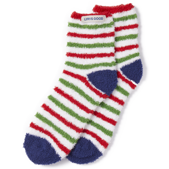 Holiday Stripe Snuggle Socks