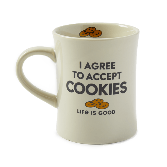 I Agree to Accept Cookies Diner Mug