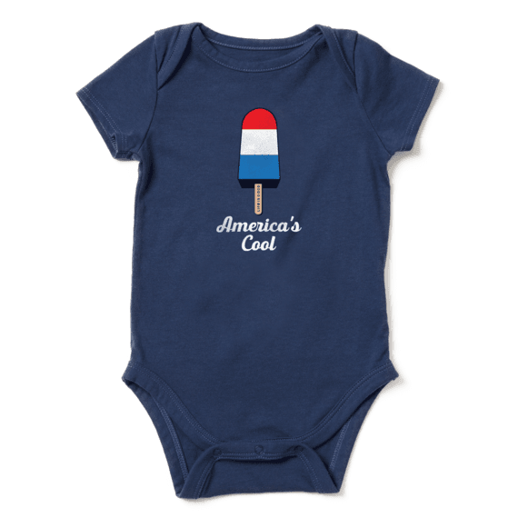 Infant Americana Popsicle Crusher Baby Bodysuit