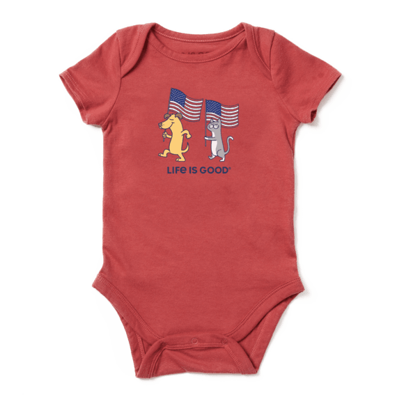 Infant Dog Cat Flags Crusher Baby Bodysuit