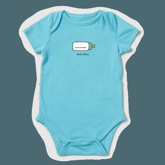 Infant Milk Man Vintage Crusher Baby Bodysuit