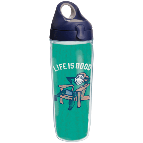 Jake Adirondack Chair Tervis Water Bottle with Navy Lid