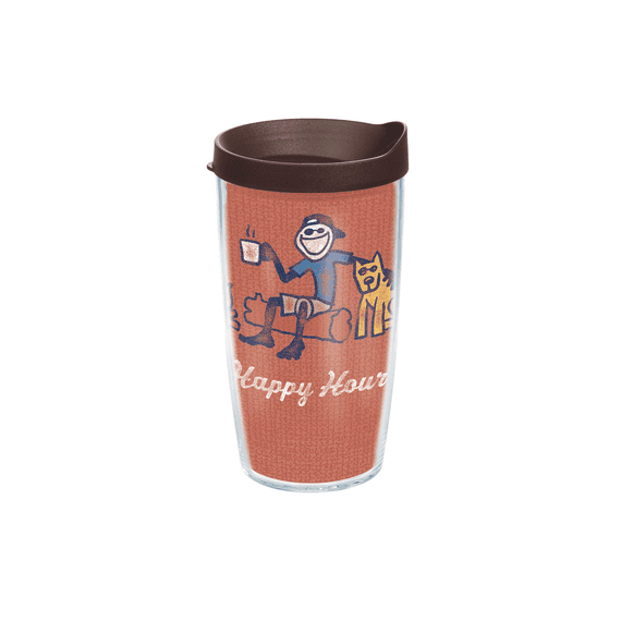 Jake Happy Hour Tervis Tumbler with Brown Lid, 16 oz.