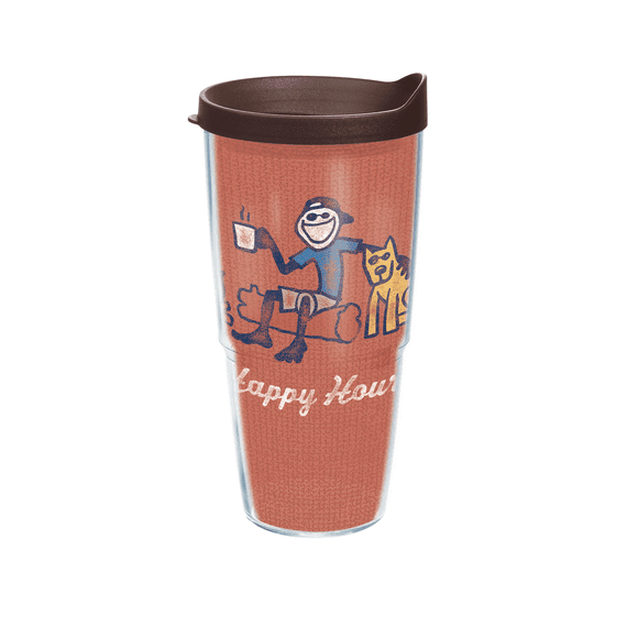 Jake Happy Hour Tervis Tumbler with Brown Lid, 24 oz.