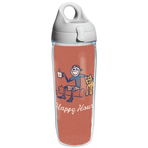 Jake Happy Hour Tervis Water Bottle with Grey Lid