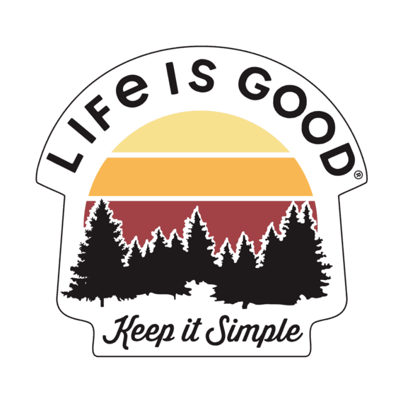Keep It Simple Small Die Cut Decal