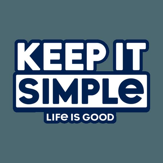 Keep It Simple Small Die Cut Decal