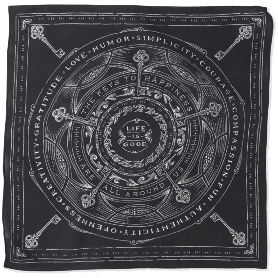 Keys To Happiness Bandana