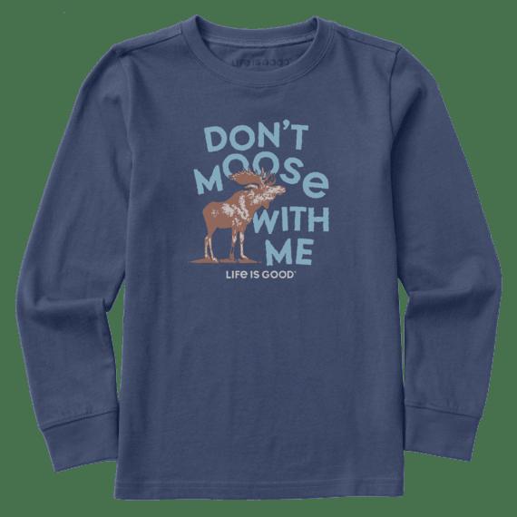 Kids Big Moose Long Sleeve Crusher Tee