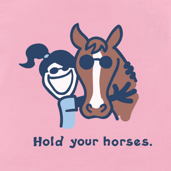 Kids Hold Your Horses Vintage Crusher Tee