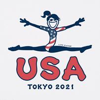 Kids Unisex Jackie USA Gymnast 2021 Crusher Tee